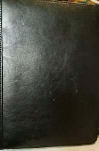 Black Faux Leather Notepad notebook Holder Cover 9x7