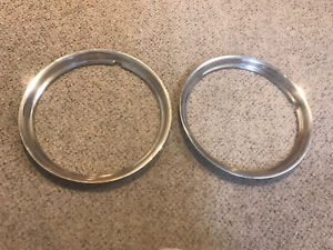 Pair 14 Trim Ring Chrome Hubcaps Wheel Covers Beauty Wide