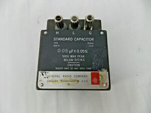 General Radio Co 1409 r 0 05 f 0 05 Standard Capacitor