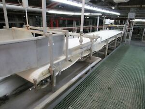 48 Wide Conveyer 25 Ft Long Stainless Steel With Intralox Belt