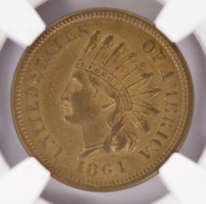 Ngc 1c 1864 Indian Cent Judd 356a Thin Copper tin Planchet Ms62 Bn