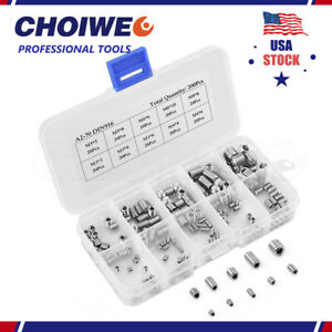200pcs Hex Socket Set Screws With Cone Piont Assortment Kit M3 4 5 6 8 Stainless