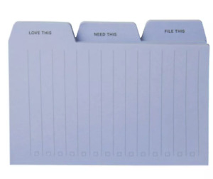 Post it 3pk 3 x4 Tab Notes Blue Love This Need This File This 90 Each
