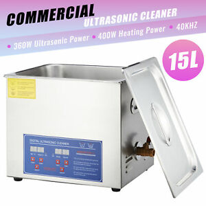 15l Professional Electric Digital Ultrasound Ultrasonic Cleaner Commercial Use