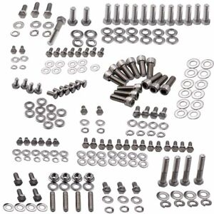 Great Fitment For Chevy 265 283 305 307 327 350 400 Stainless Engine Bolts Kit