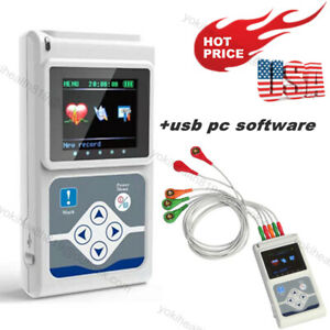 Tlc5007 Dynamic Holter 3 Channel Cardiology Analyzer Recorder System pc Software