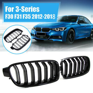 Front Kidney Grille Grill For Bmw F30 F31 F35 F80 3 series 2012 2018 Gloss Black