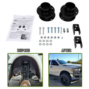 2 5 Front Leveling Lift Kit Steel Spacers For 2013 2020 Dodge Ram 3500 2wd 4wd