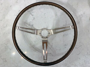 Oer Gm Simulated Walnut Wood Steering Wheel And Horn Button1967 68 Chevy Camaro