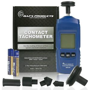 Bafx Products Handheld Digital Contact Tachometer wheel Meter For Reading Rpm