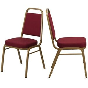 Set Of 4 Classic Stacking Banquet Chair Multi purpose Conference Event Chairs