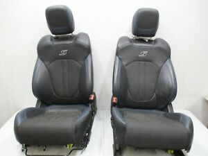 Front Seats Bucket Electric Black And Blue Leather Cloth 2015 2017 Chrysler 200