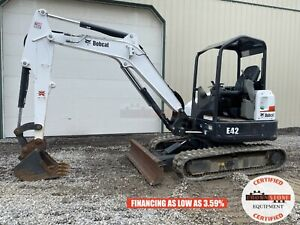 2017 Bobcat E42 Mini Excavator Orops Long Arm Aux Hyd 2 Speed 522 Hours