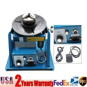 10kg Rotary Welding Positioner Turntable Table With 2 5 3 Jaw Lathe Chuck
