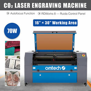 70w 30 x16 75x40cm Co2 Laser Cutter Engraver Etcher Bed With Ruida Autofocus