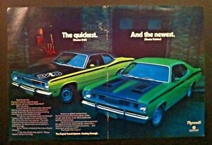Plymouth Duster 340 Twister Centerfold Rts Mopar Car Ad Print Gift 1970 1971