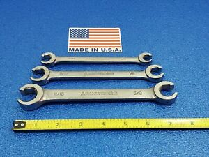Vintage Armstrong Usa Flare Nut Line Wrench Set 3pc 3 8 11 16 Ships Free Lot