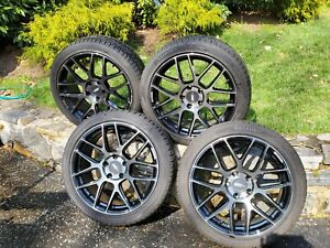 18x8 Flowone Wheels Rims Tires Tpms For Mazdas Or Others With 5x114 Lug Spacing