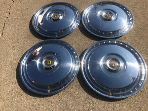1955 1956 Ford Fairlane Sunliner Victoria Thunderbird 15 Wheel Covers Hubcaps