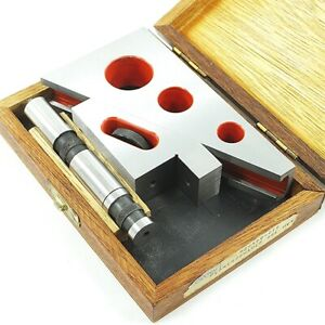 Helios Precision Planer Shaper Gage Extension Wood Case Machinist Tool Die Maker