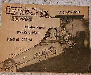 Rare Lions Drag Strip Drag Scoop Magazine Volume 3 7 Drag Racing Nhra Ahra