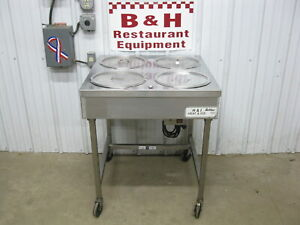 Belshaw H i 4 Four Bowl Heat Ice Donut Icing Glazing Table Warmer Icer
