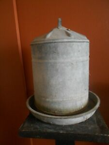 Vintage Large Galvanized Chicken Waterer Pick Up Not Usps
