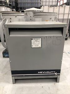 Hevi Duty Dry Type Transformer 112 5 Kva Primary 480d Secondary 208y 120 Volt