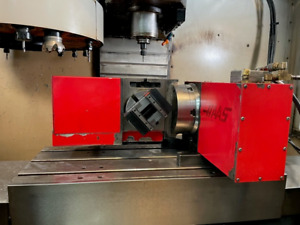 Used Haas Trt 160 Brush Trunnion Rotary Table Indexer 4th 5th Axis Red 17 Pin