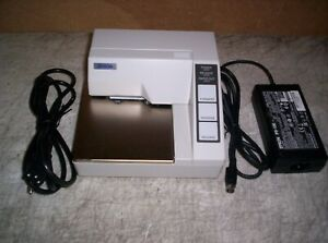 Epson Tm u295 Slip Printer With Power Supply Serial Guaranteed Working