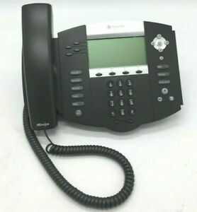 Polycom Soundpoint Ip 550 Phones 2201 12550 001 With Stand And Handset