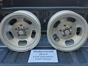 Vintage 72 Shelby Cal 500 Slotted Mag Wheels 15x7 Pontiac Buick Oldsmobile Chevy