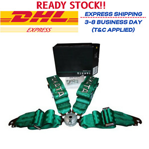 Takata Race 4 Point Snap on 3 Racing Seat Belt Harness With Camlock Free Ship