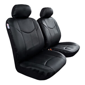 Waterproof Leather Seat Covers Set For Toyota Tacoma Trd 2008 2021 Grey Black