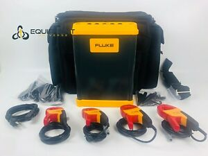 Fluke 1750 3 Phase Power Quality Logger Power In Case Clamps And Accessories