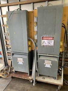 30 Kva Transformer With Distribution Panel And Rolling Cart Used
