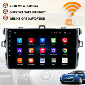 Gps Navigation Android 9 1 Car Stereo Radio Wifi Tp For Toyota Corolla 2006 2012