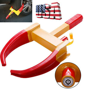 Wheel Lock Clamp Boot Tire Claw Trailer Auto Car Truck Anti theft Towing Us Hot
