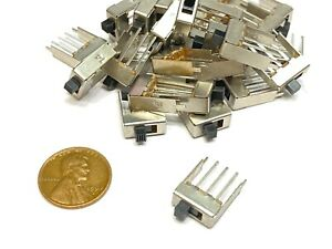 25 Pieces Slide Switch Ss12f24 1p2t 3pin 2 Position Spdt On off Ss12f24g3 E15