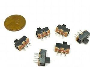 6 Pieces Slide Switch Ss 12f17 1p2t 3pin 2 Position Spdt On off E19