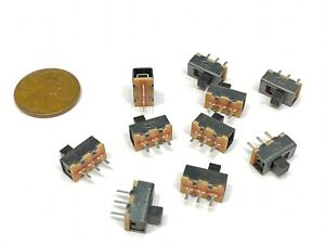 10 Pieces Slide Switch Ss 12f17 1p2t 3pin 2 Position Spdt On off E19