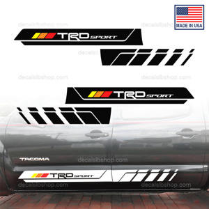 Trd Sport Decals Stickers Fit Toyota Tacoma Side Doors Graphics Vinyl Stripes A