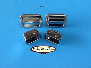 70 72 Chevelle Hardtop Coupe Rear Armrest Arm Rest Chrome Ash Tray Pair Ashtray
