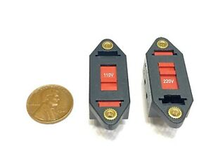 2 Pieces Voltage Selector Slide Switch Ac 110v To 220v 6 Terminals Dpdt 6pin E21