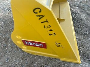 Cat 312 48 Excavator Ditch Cleanup Ditching Bucket Caterpillar Free Shipping