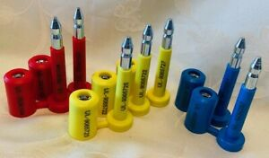 Uline H 435 High Security Bolt Seal Set 3 Yellow 2 Each Red Blue New
