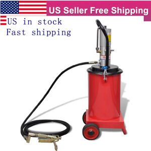 Pneumatic Grease Gun Filler Air Operated High Pressure Pump Hose 3 Gallon