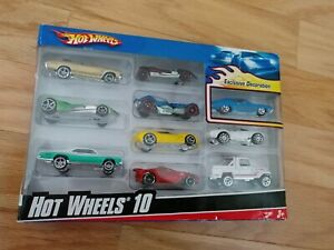 Hot Wheels Cars 10 Pack Exclusive Decoration Sealed Variety Pack New Dated 2009