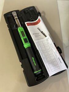 Snap on Atech2f125gb 3 8 Dr Green Techangle Flexhead Torque Wrench 5 125 Ft lb