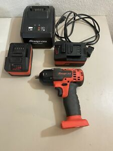 Snap on Ct8810a Orange 3 8 18v Cordless Lithium Impact Wrench Kit Free Ship
